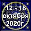 Гороскоп азарта на неделю - с 12 по 18 октября 2020г